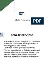 SAP Rebate Processing