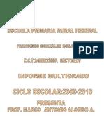 Informe Final de Escuelas Multigrado