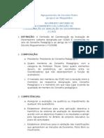 REGIMENTO INTERNO DE FUNCIONAMENTO DA CCAD