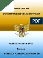 Pp No 19 Th 2005 Ttg Standar Nasional Pendidikan