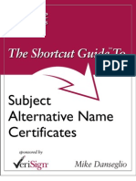 Subject Alternative Name Certificates