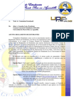 Carta Comunidad Estudiantil UPRAg