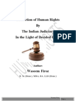 Role of Indian Judiciary in Protection of Human Rights- By Waseem Firoz