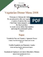 Dinner Vegetarian