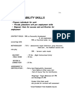 Praxis EL Contents of Employ Ability Skills DRAFT COURSE Oct 6,'10 (162 Pages)