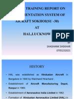 Summer Training Report on Instrumentation System of Aicraft