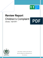 Children's Complaint Office - Monthly Report (April 2011)