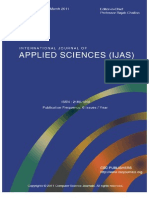 International Journal of Applied Sciences (IJAS) Volume (2) Issue (1)