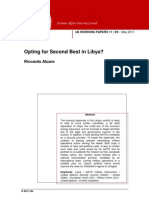 Opting for Second Best in Libya