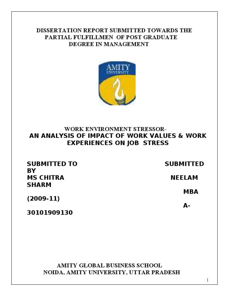 Phd thesis on occupational stress
