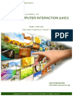 International Journal of Human Computer Interaction (IJHCI) Volume 2 Issue 1