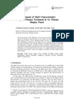 Improvement of MgO Characteristics Using RF-Plasma Treatment in AC Plasma Display Panel
