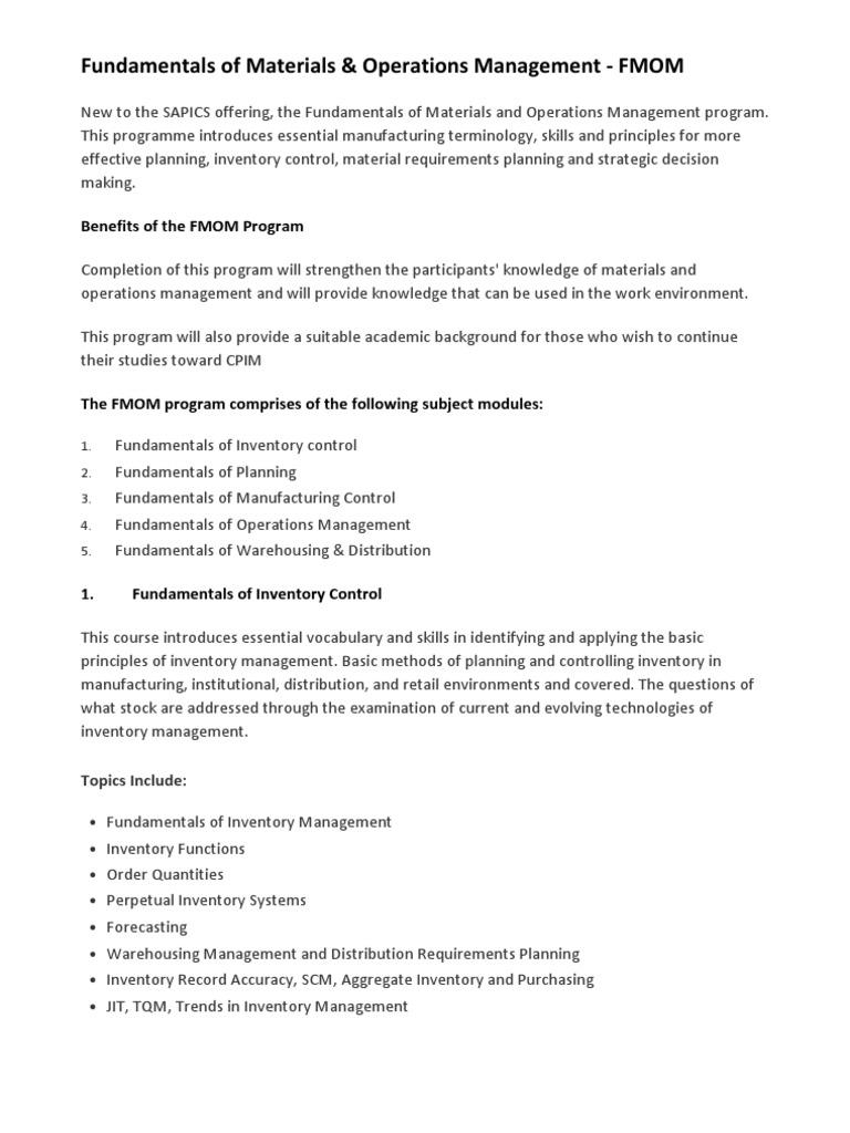 Warehouse Management Fundamentals