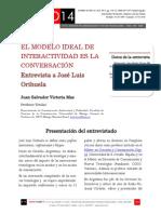 Icono14. Nº15. El modelo ideal de interactividad es la conversación. Entrevista a José Luis Orihuela