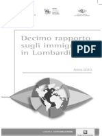 X Rapporto Immigrati in Lombardia