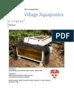 Master Aquaponics Report