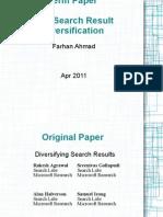 Web Search Result Diversification