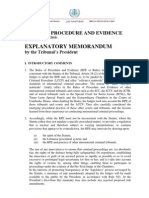 EXPLANATORY MEMORANDUM by the Tribunal's President of the RULES OF PROCEDURE AND EVIDENCE (as of 25 November 2010)