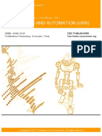 International Journal of Robotics and Automation (IJRA) Volume 2 Issue 1
