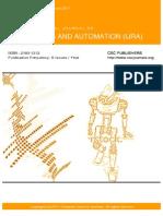 International Journal of Robotics and Automation (IJRA) Volume 2 Issue 1