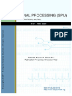 Signal Processing an International Journal (SPIJ) Volume 5 Issue 1