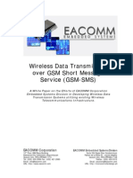 Wireless Data Transmission over GSM-SMS