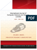 International Journal of Computer Science and Security (IJCSS) Volume 5 Issue 1