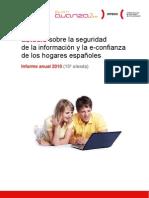 Estudio sobre la seguridad de la información y la e-confianza de los hogares españoles (Informe anual 2010)