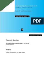 Social Media Research 2011