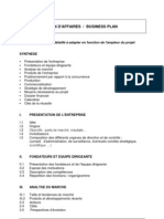 Modele Business Plan Gratuit