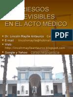 RIESGOS PREVISIBLES EN EL ACTO MEDICO
