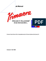 Primavera Lab Manual