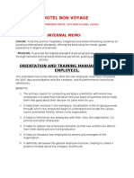 Orientation Manual and Checklist for New Employees