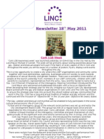 Newsletter 18th May 2011