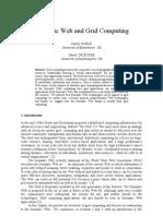 Semantic Wed & Grid Computing