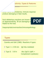 Hypersensitivity Types & Features