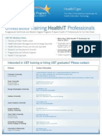 Universities Training Health IT Professionals