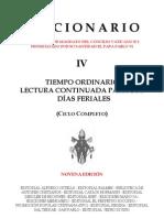 Leccionario IV - Dias Entresemana Tiempo Ordinario