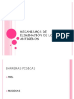 MECANISMOS DE ELIMINACIÒN DE LOS ANTIGENOS