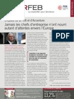 Enquête de la FEB et d'Accenture