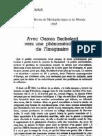Ramnoux, Avec Bachelard vers une Phénoménologie de l'imaginaire