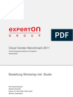 Experton Cloud Vendor Benchmark 2011 Bestellung User 180511 Final