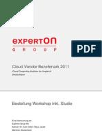 Experton Cloud Vendor Benchmark 2011 Bestellung User 180511 Final