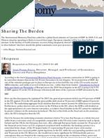 National Journal Online Sharing the Burden 230209