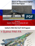 Russian Fifth Generation Fighter Aircraft [FGFA] PAK-FA