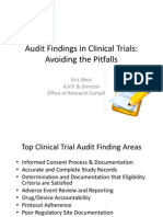 Audit Findings in Clinical Trials