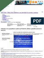 WIN - Pantallazos Azules - SOLUCION