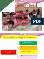 Strategi Pembelajaran Menulis
