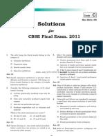 Aimpt 2011 Mains Exam Solved Paper