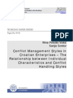 Conflict Management Styles In